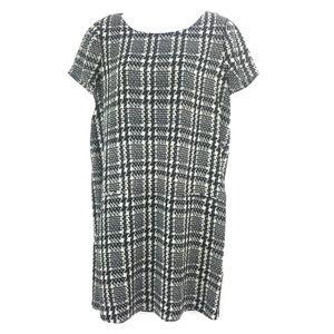 JOIE Modaline Shift Houndstooth Dress Silk NEW